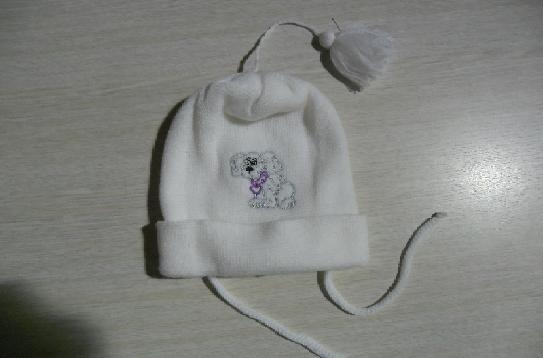 Dětská zimní čepice bílá