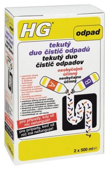 HG tekutý DUO čistič odpadů 2 x 500 ml