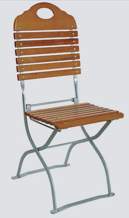 Zahradní židle Karla jasan, skládací