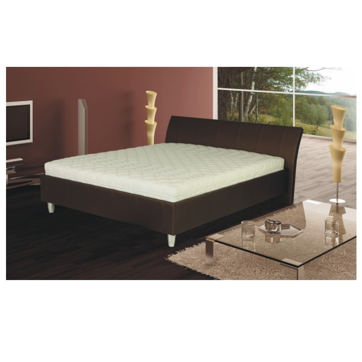 Tempo Kondela manželská postel DIEGO 160x200cm eko kůže hnědá