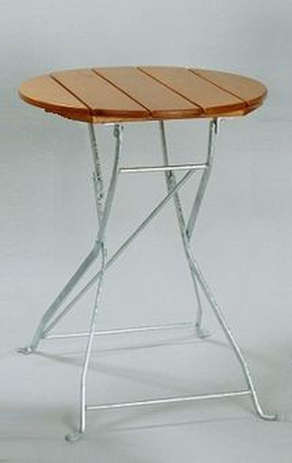 Zahradní stůl Klasik kulatý 70 cm jasan, skládací