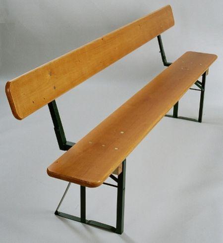 Pivní lavice smrk s opěrkou š.27x220cm