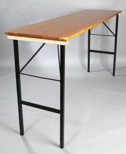 Pivní stůl k stání smrk š.60x220cm