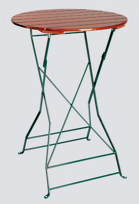 Zahradní stůl, stoják Atlas kulatý 80cm jasan, skládací