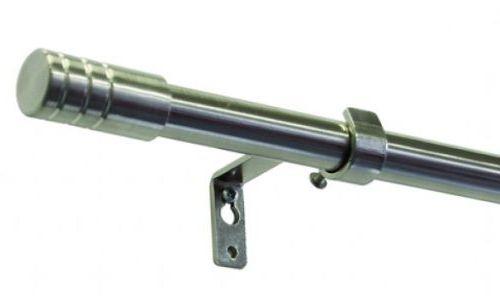 Gardinia Vancouver Válec 16/19mm 120-210cm kov ušlechtilá ocel (roztažitelná záclonová tyč)