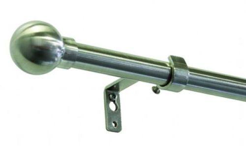 Gardinia Vancouver Koule 16/19mm 120-210cm kov ušlechtilá ocel (roztažitelná záclonová tyč)