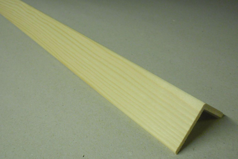 Spálenský dřevěná rohová lišta R 4040/240cm smrk 40x40x2400mm (ochranný roh)