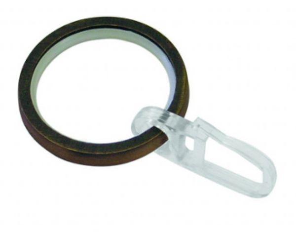 Gardinia Windsor 25mm kroužky s vložkou a háčky bronz