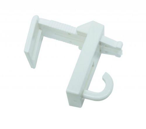 Gardinia vzpěrný nosník s háčkem plast bílá