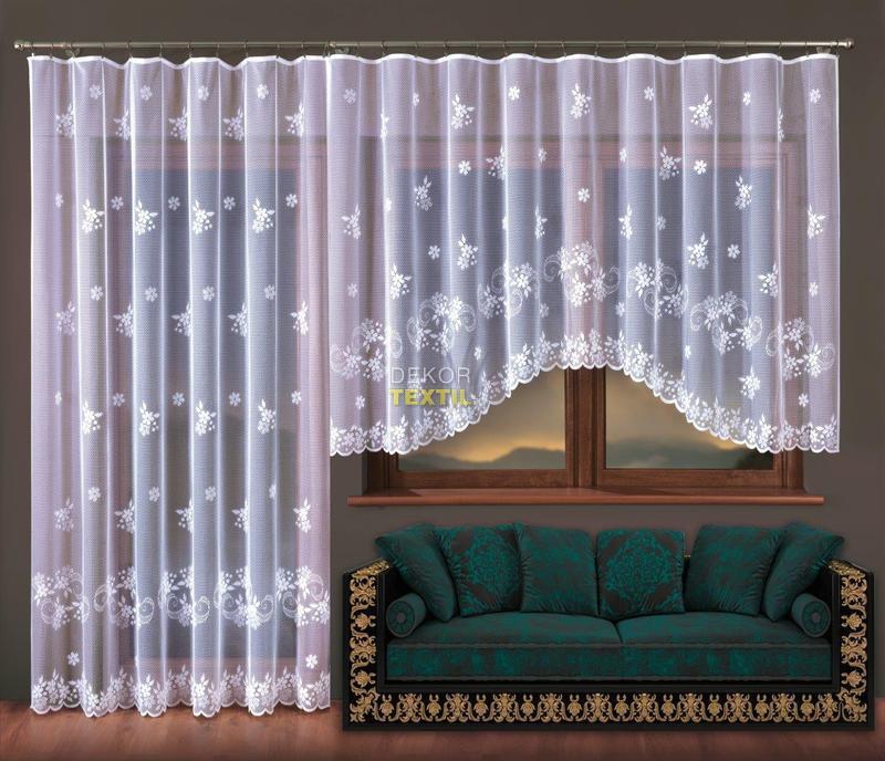 kusová záclona KVĚTUŠE 300x150cm