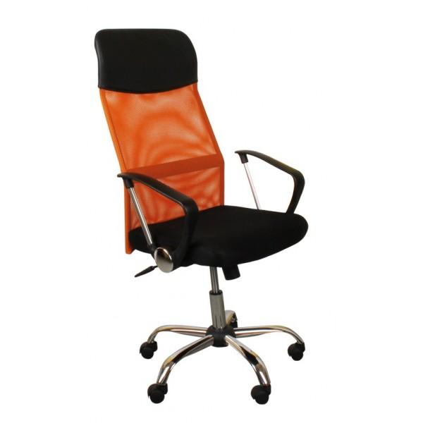 kancelářská židle ZK07 oranžová