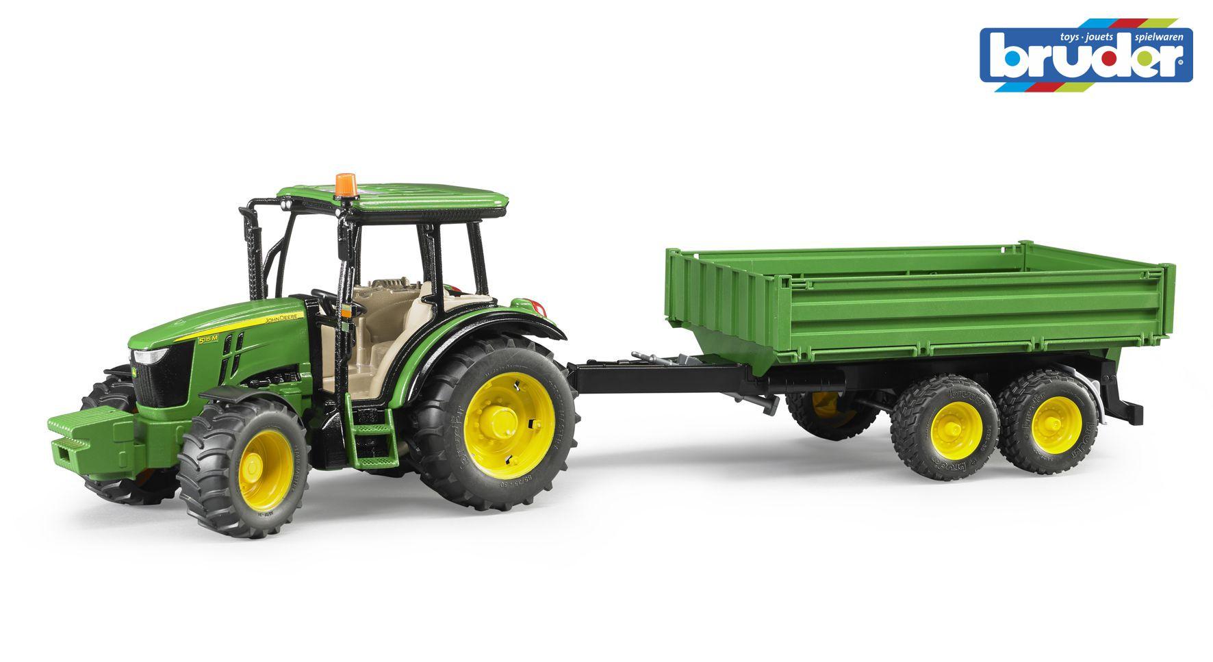 BRUDER 2108 Traktor JOHN DEERE s vlekem