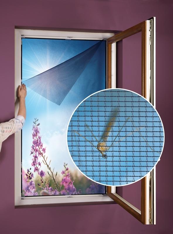 Síť do okna proti hmyzu a pylu 130x150cm