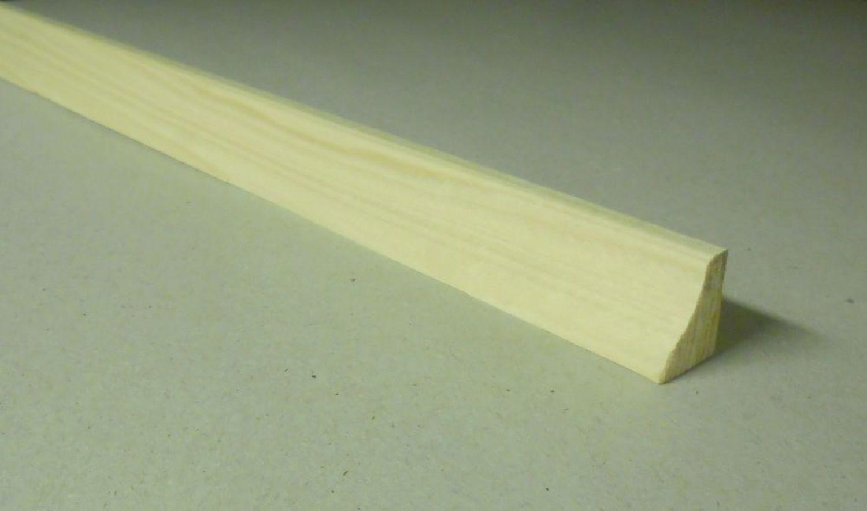 Spálenský dřevěná podlahová lišta P 2518/240cm smrk 25x18x2400mm