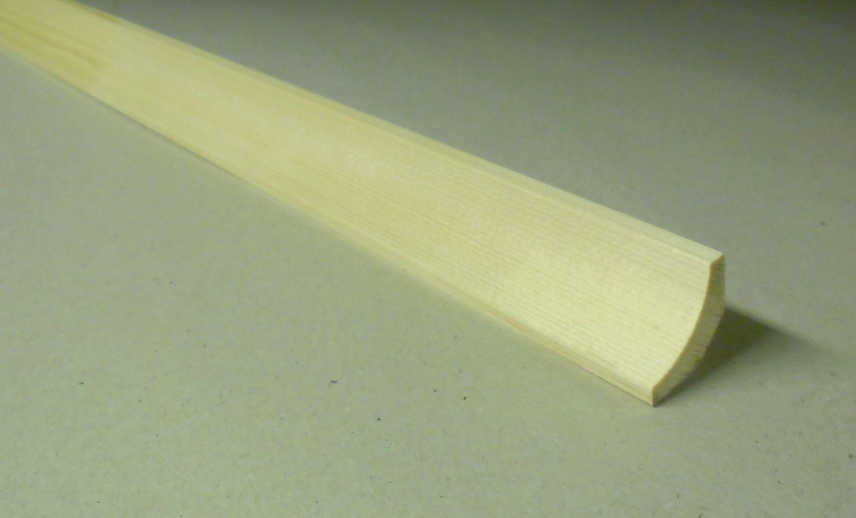 Spálenský dřevěná podlahová lišta RVI 2525/240cm smrk 25x25x2400mm
