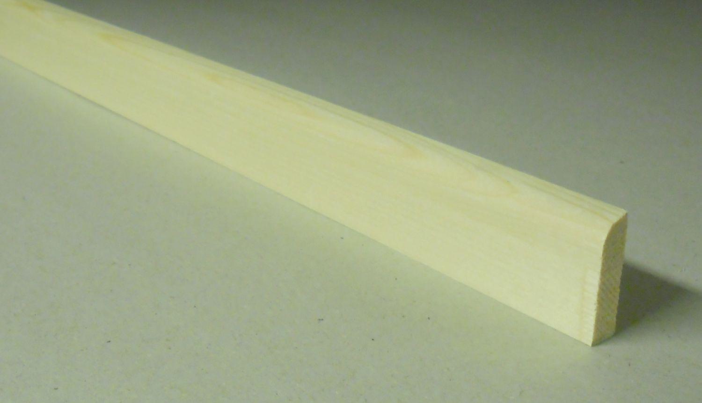 Spálenský dřevěná podlahová lišta RV 3710/240cm smrk 37x10x2400