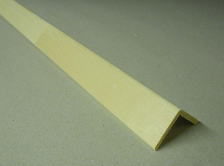 Spálenský dřevěná rohová lišta R 3030/240cm smrk 30x30x2400mm (ochranný roh)