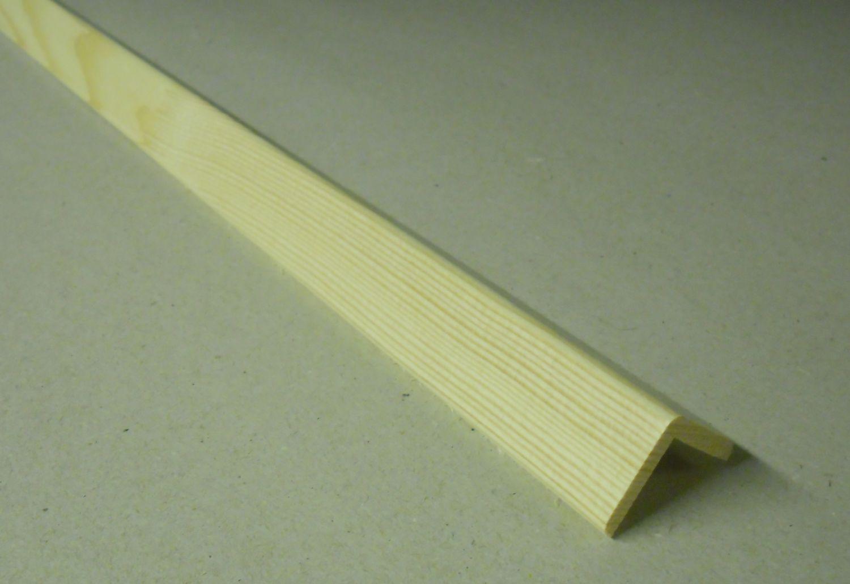 Spálenský dřevěná rohová lišta R 2121/240cm smrk 21x21x2400mm (ochranný roh)