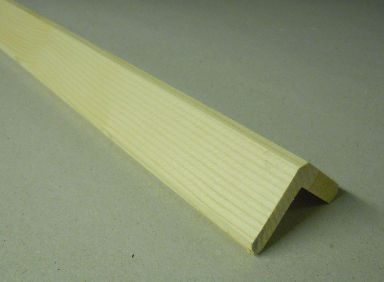 Spálenský dřevěná rohová lišta RF 3434/240cm smrk 34x34x2400mm (ochranný roh)