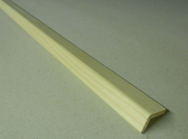 Spálenský dřevěná rohová lišta L 1420/240cm smrk 14x20x2400mm (ochranný roh)