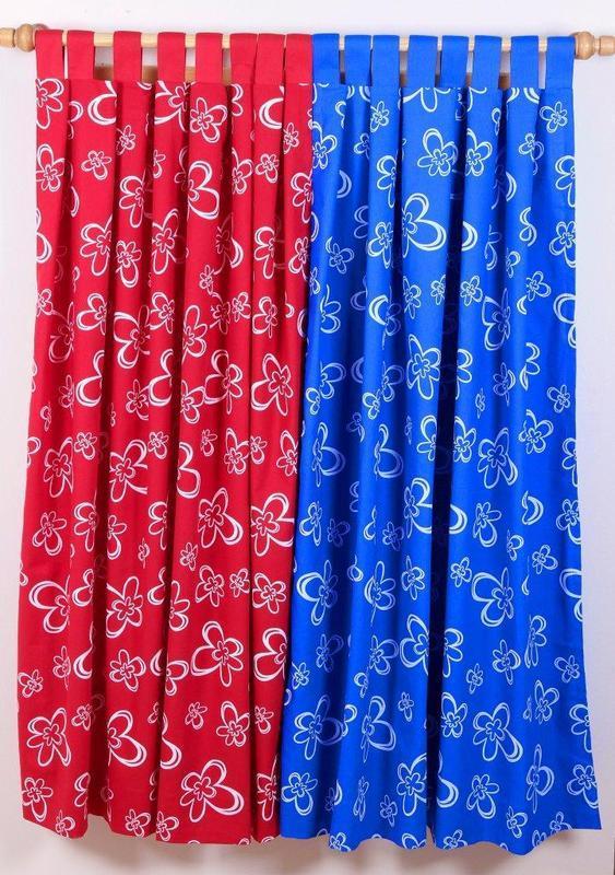 Závěs modrý Daisy 140 x 160 cm - 1 ks