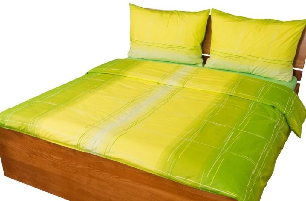 Prodloužené povlečení bavlna 140x220, 70x90cm Hlubina zelená