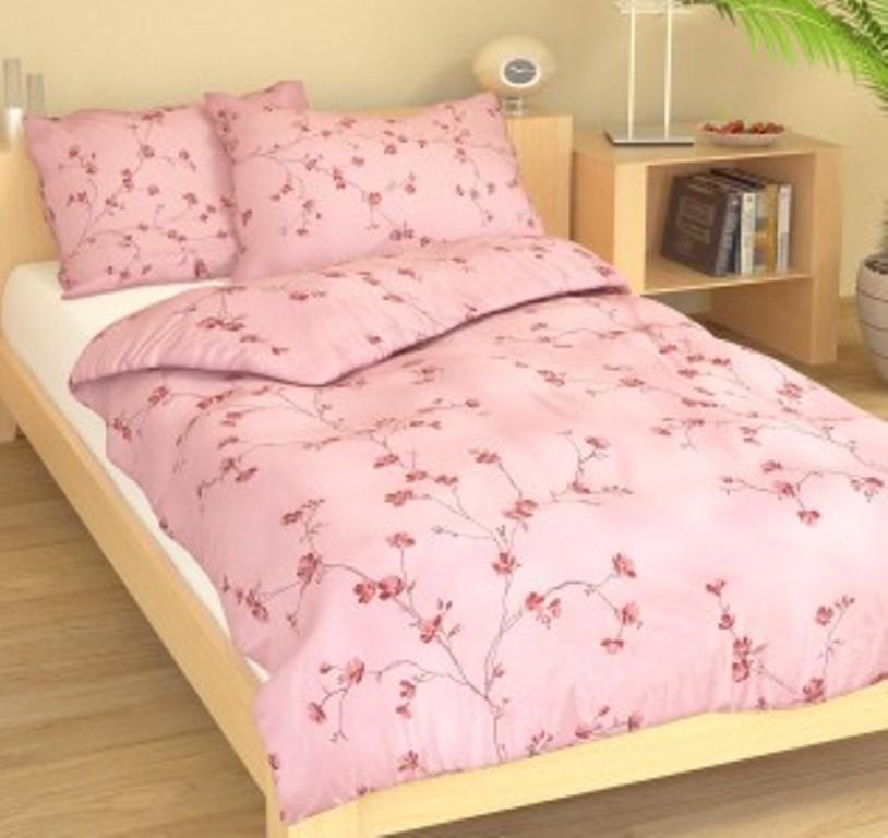 Povlečení francouzské bavlna 240x220,70x90 Drobné kvítky růžové