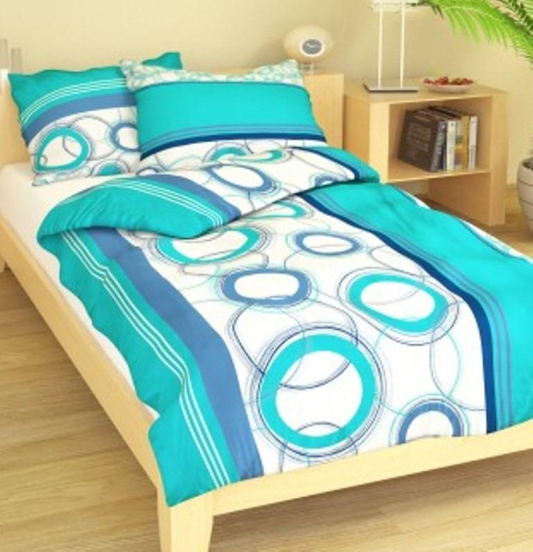 Přehoz přes postel jednolůžkový Planety modré