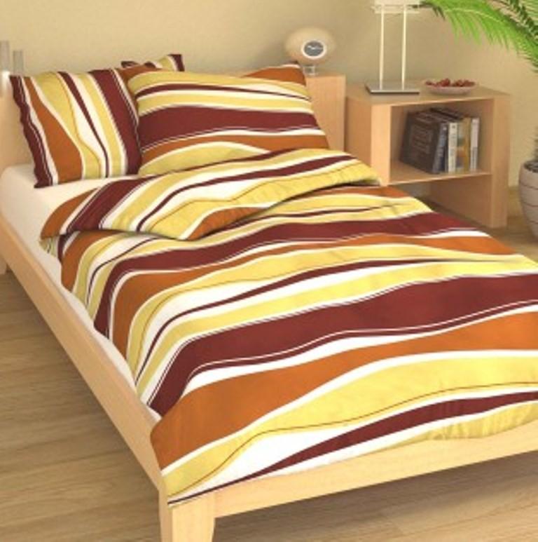 Přehoz přes postel jednolůžkový Vlnění hnědé
