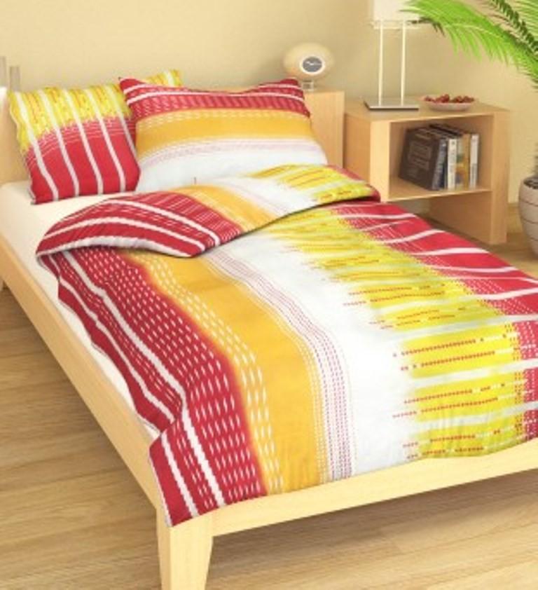Přehoz přes postel jednolůžkový Nora růžovožlutá