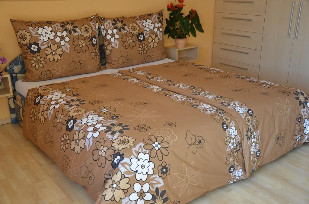 Přehoz přes postel jednolůžkový Louka hnědá