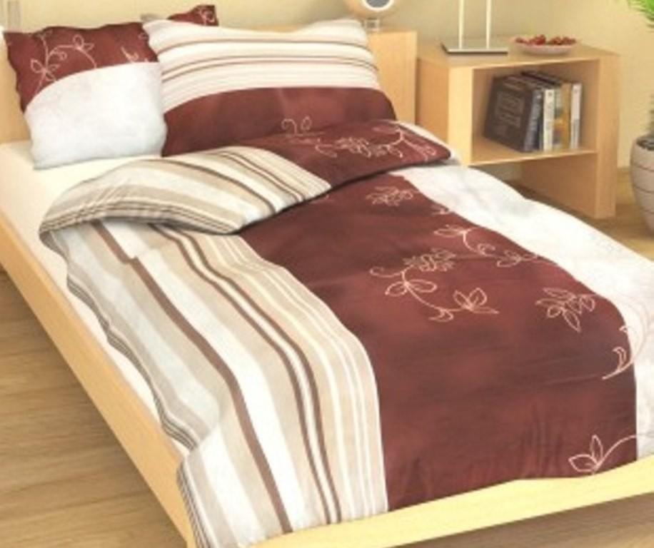 Přehoz přes postel jednolůžkový Listela béžová