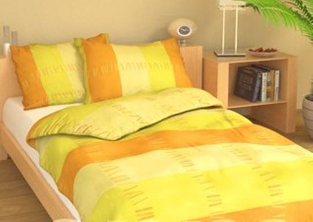 Přehoz přes postel jednolůžkový Duha žlutá