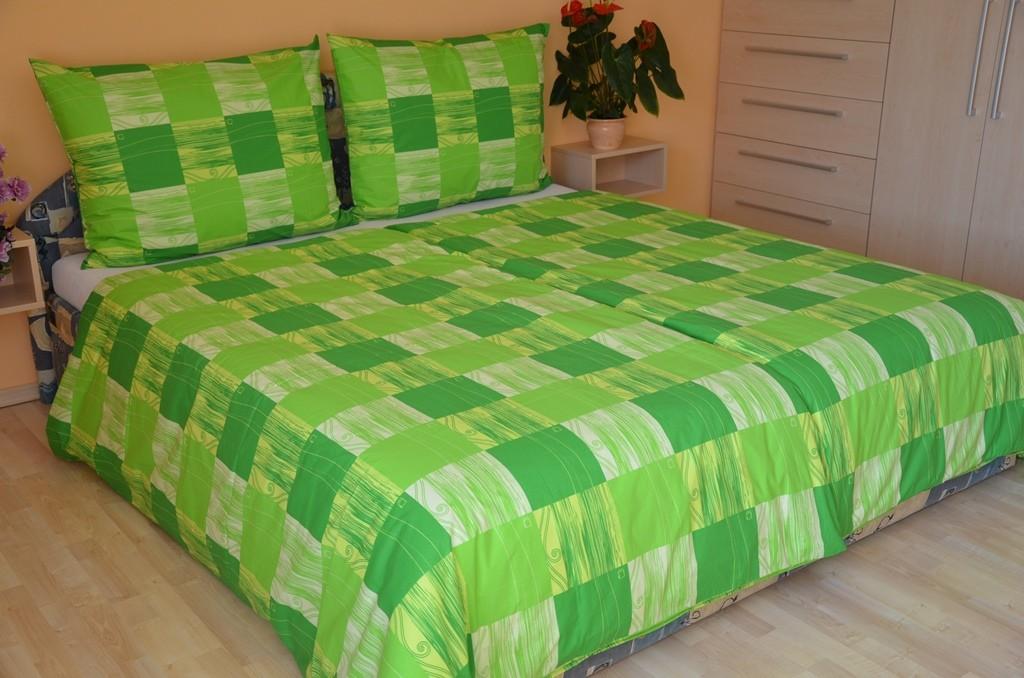 Přehoz přes postel dvojlůžkový Domino zelené