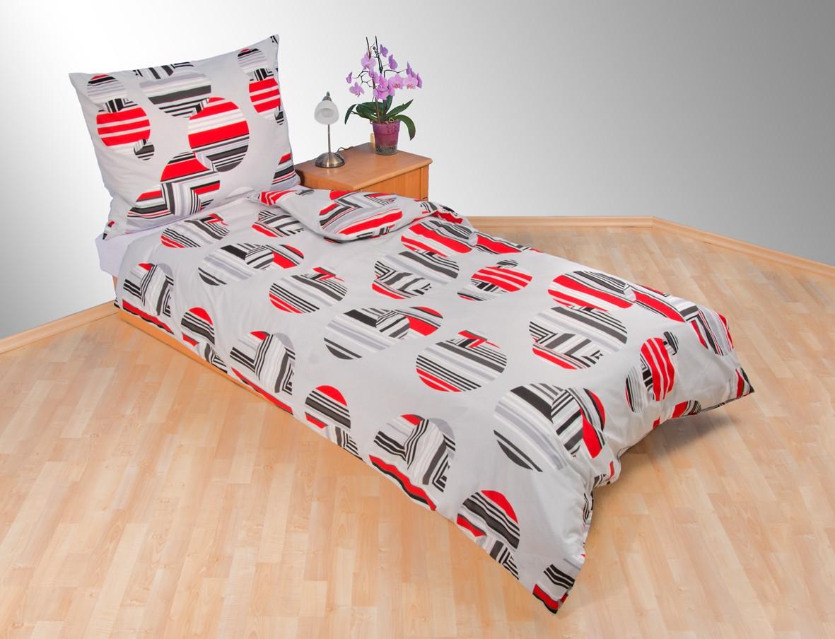 Přehoz přes postel dvojlůžkový Šachovnice šedá