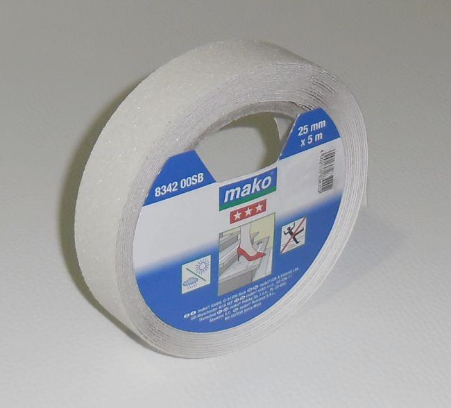 Protiskluzná lepící páska na schody š.25mm x 5m transparentní