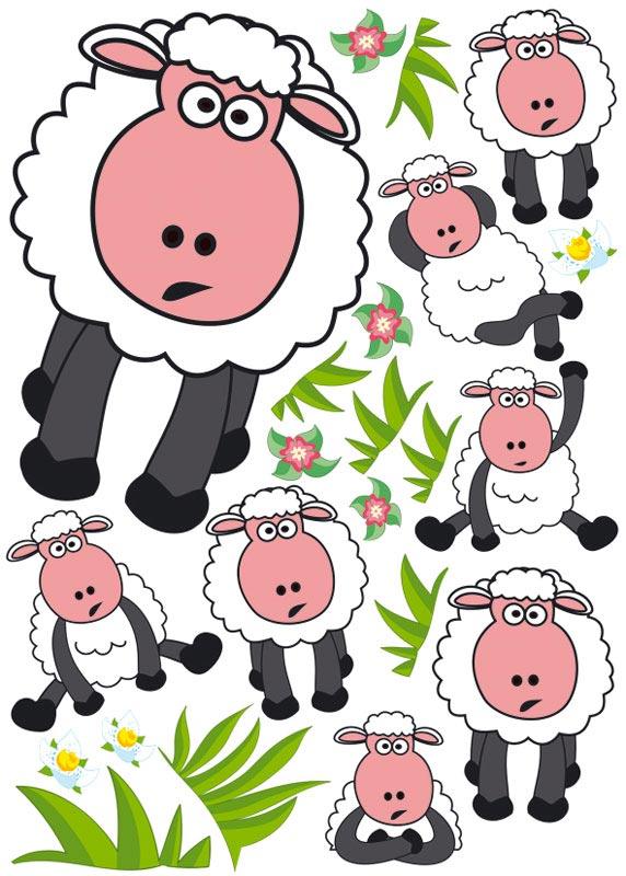 Dimex ST1 003 Samolepicí dekorace na zeď Sheep, 50x70 cm (ovečky)
