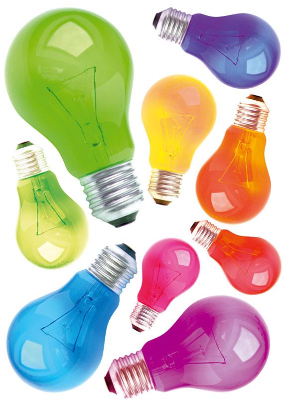 Dimex ST1 009 Samolepicí dekorace na zeď Light Bulbs, 50x70 cm (žárovky)
