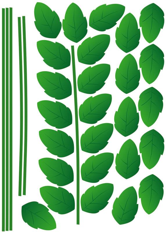 Dimex ST1 014 Samolepicí dekorace na zeď Green Plant, 50x70 cm (zelené rostliny)