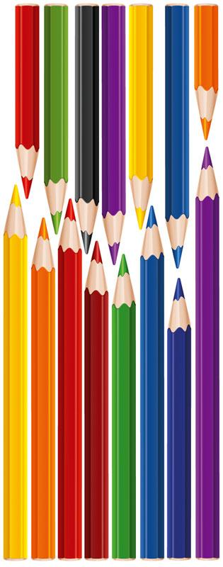 Dimex ST2 003 Samolepicí dekorace na zeď Pencils, 65x165 cm (tužky, pastelky)