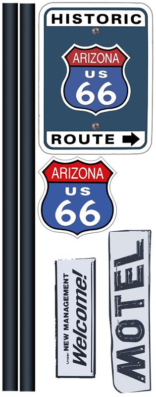 Dimex ST2 007 Samolepicí dekorace na zeď Route 66, 65x165 cm (silnice 66)