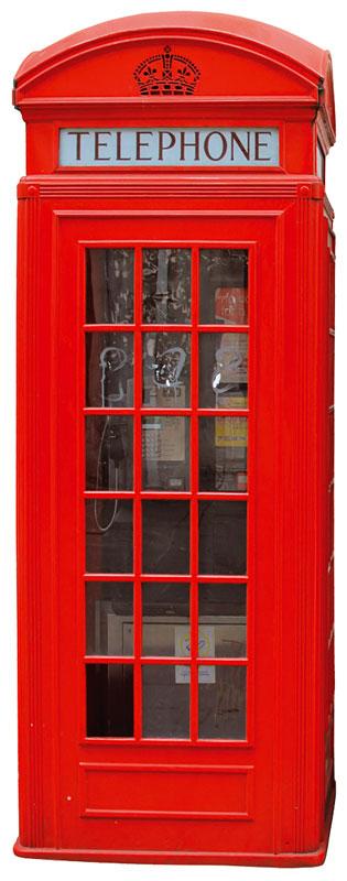 Dimex ST2 009 Samolepicí dekorace na zeď British phone Box, 65x165 cm (telefonní budka)