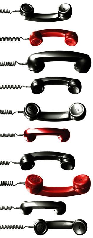Dimex ST2 012 Samolepicí dekorace na zeď Phone Receivers, 65x165 cm (telefonní sluchátka)