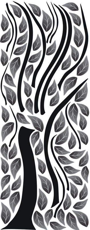 Dimex ST2 020 Samolepicí dekorace na zeď Abstract Tree, 65x165 cm (abstraktní strom)