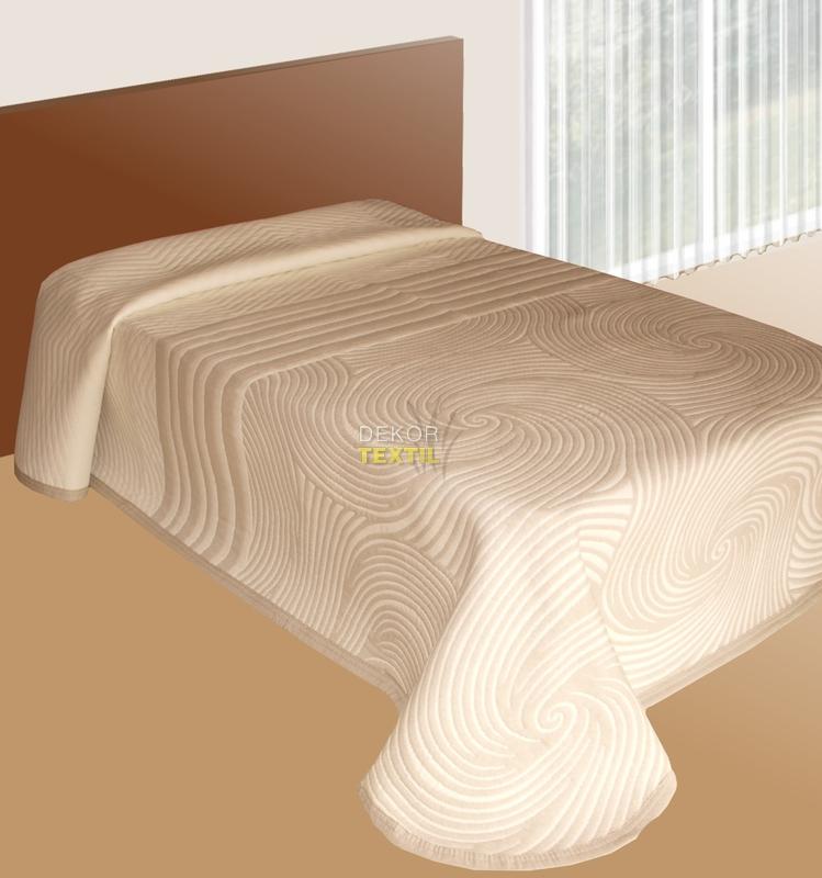přehoz na postel ESPIRALES smetanová 140x220cm