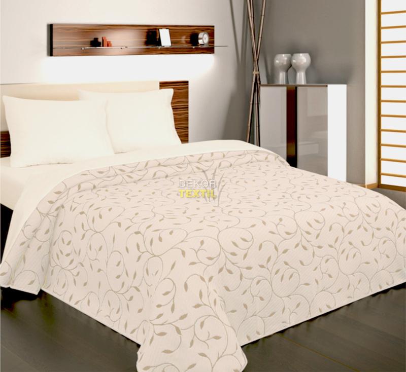 přehoz na postel INDIANA šedo-béžová 240x260cm
