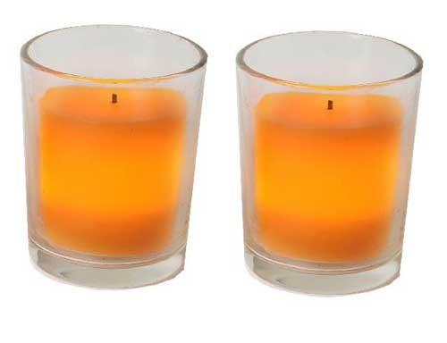 LED svíčka 67-76 oranžová