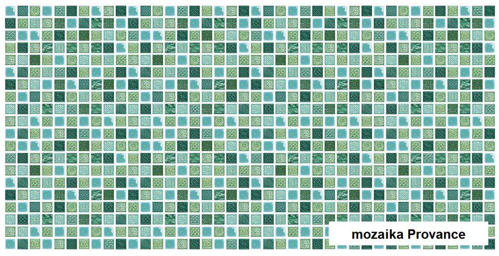 3D GRACE omyvatelný obkladový nástěnný panel PVC 480x955mm mozaika Provance