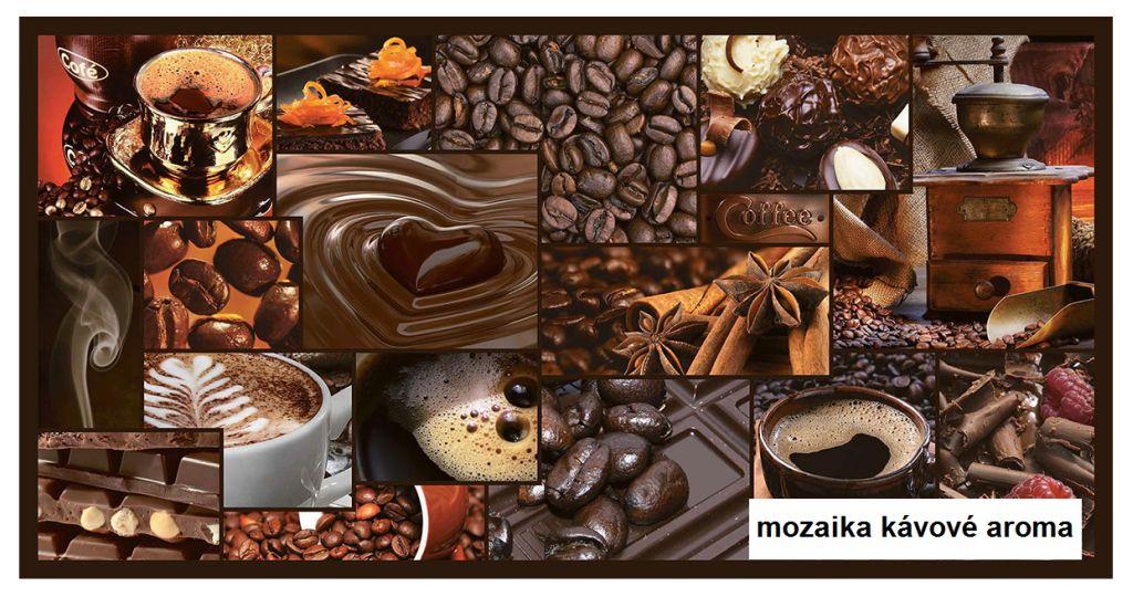 3D GRACE omyvatelný obkladový nástěnný panel PVC 480x955mm mozaika kávové aroma