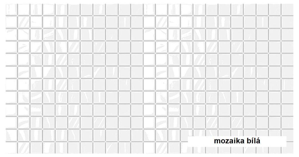 3D GRACE omyvatelný obkladový nástěnný panel PVC 480x955mm mozaika bílá